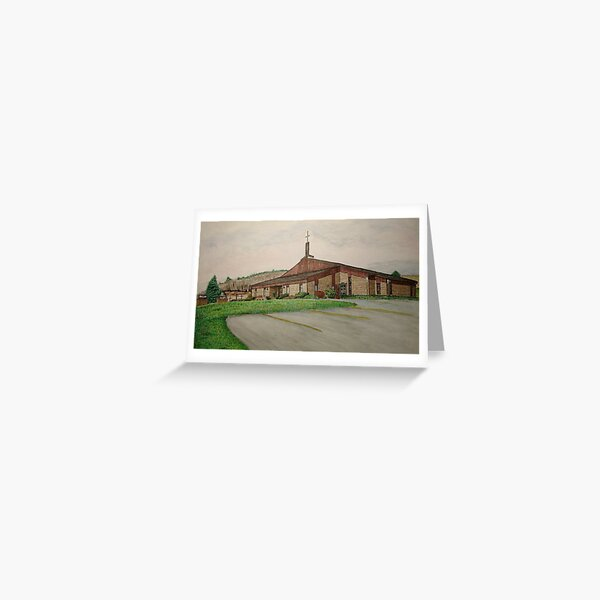 Sanctuary Collection, Skinner Eddie Methodist Church, Laceyville, Pennsylvania Greeting Card