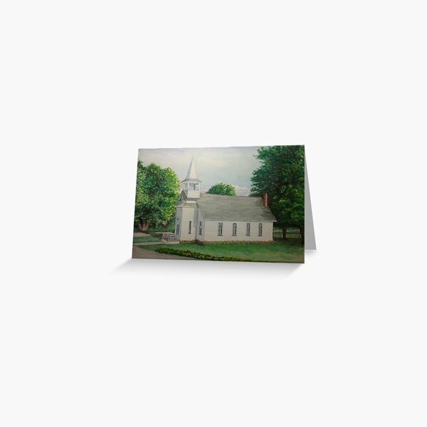 Sanctuary Collection, Golden Hill Community Church, Laceyville, Pennsylvania Greeting Card