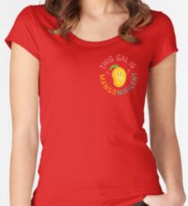 Punny Garden - This Gal is Mangonificent Women's Fitted Scoop T-Shirt