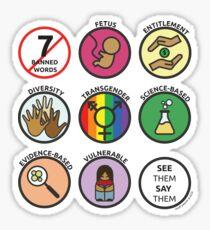 7 Banned Words Sticker