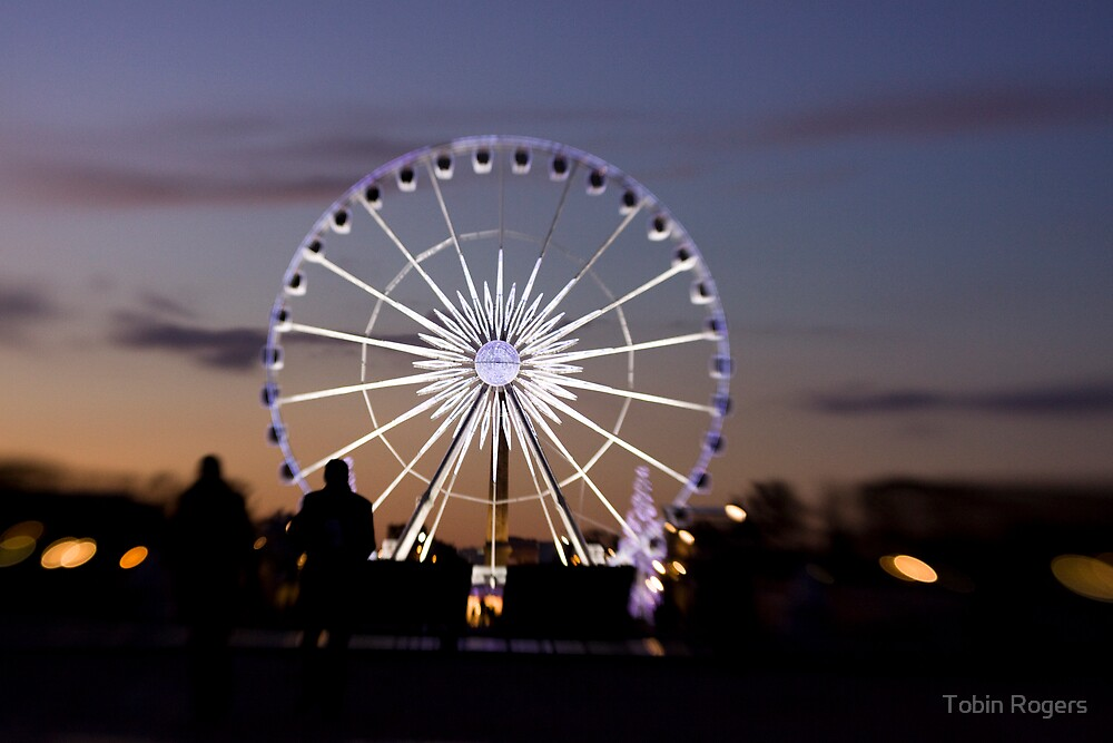Ferris Wheel In Paris by Tobin Rogers