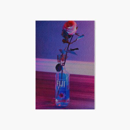 VaporWave rose Art Board Print