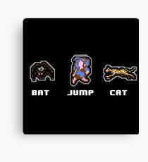 Bat Jump Cat Ninja Gaiden NES Canvas Print