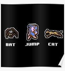 Bat Jump Cat Ninja Gaiden NES Poster