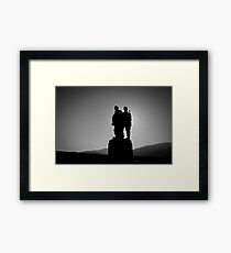 The Commando Memorial, near Spean Bridge village. Scotland. Framed Print