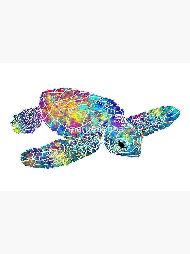 Sea Turtle Watercolor Art by maryedenoa