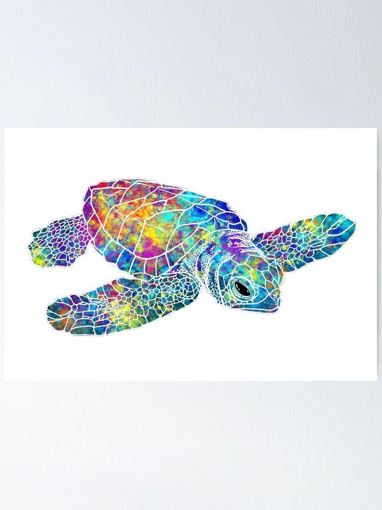 Alternate view of Sea Turtle Watercolor Art Poster