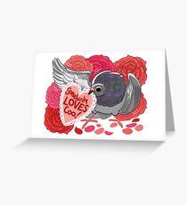 Valentine Pigeon Greeting Card