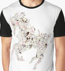 Flower Horse - Modern Design - Many Colors - Very Good Material Graphic T-Shirt