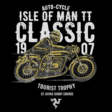 Isle Of Man TT Racing Manx Classic Vintage 3 Legs Flag Road Race Classic by thespottydogg