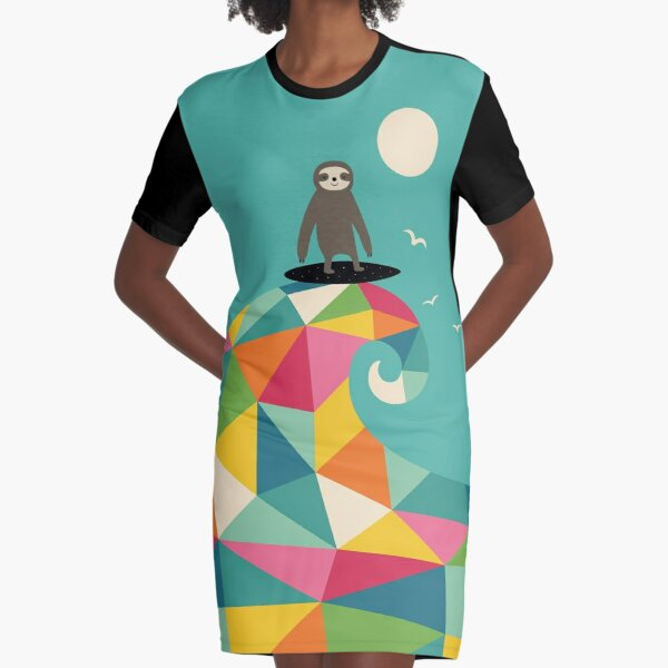 Surfs Up Graphic T-Shirt Dress