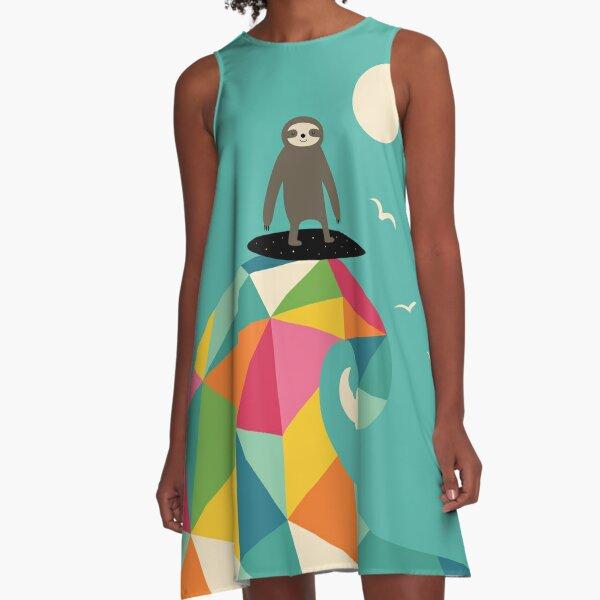 Surfs Up A-Line Dress