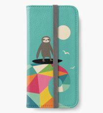Surft auf iPhone Flip-Case/Hülle/Klebefolie