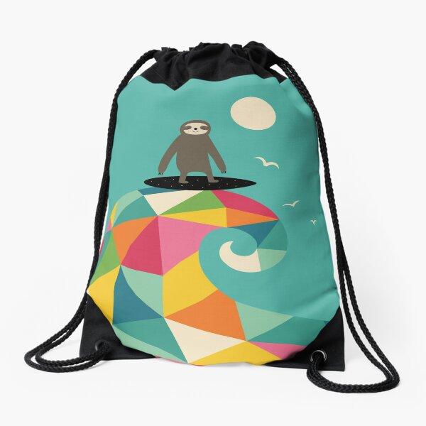 Surfs Up Drawstring Bag
