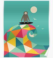 Surft auf Poster