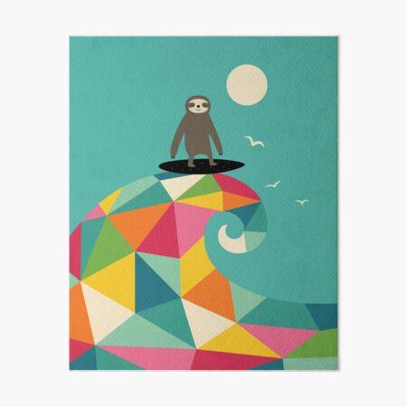 Surfs Up Art Board Print