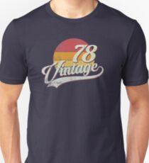 40th Birthday Vintage 1978 Retro Distressed Gift Shirt Unisex T-Shirt