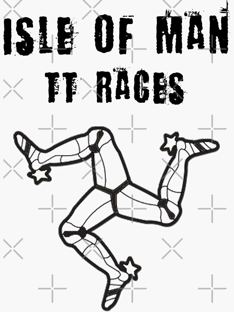 Isle Of Man TT Races 3 Legs Of Man Flag Vintage Retro Celtic Manx Racing Graphic by thespottydogg