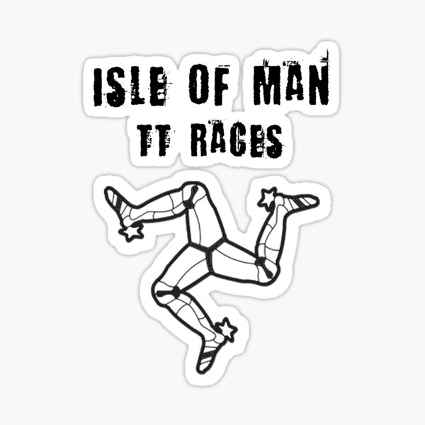 Isle Of Man TT Races 3 Legs Of Man Flag Vintage Retro Celtic Manx Racing Graphic Sticker