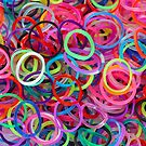 Colorful loom rubber bands. by Maria Meester