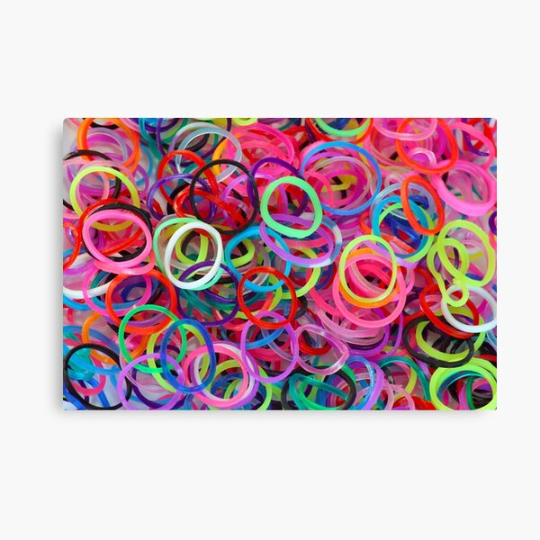 Colorful loom rubber bands Canvas Print