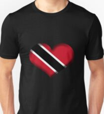 Trinidad and Tobago Heart Flag Unisex T-Shirt