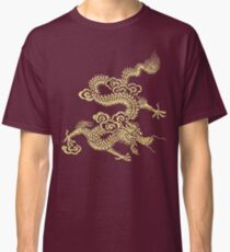 Gold Chinese Dragon Clothing Classic T-Shirt