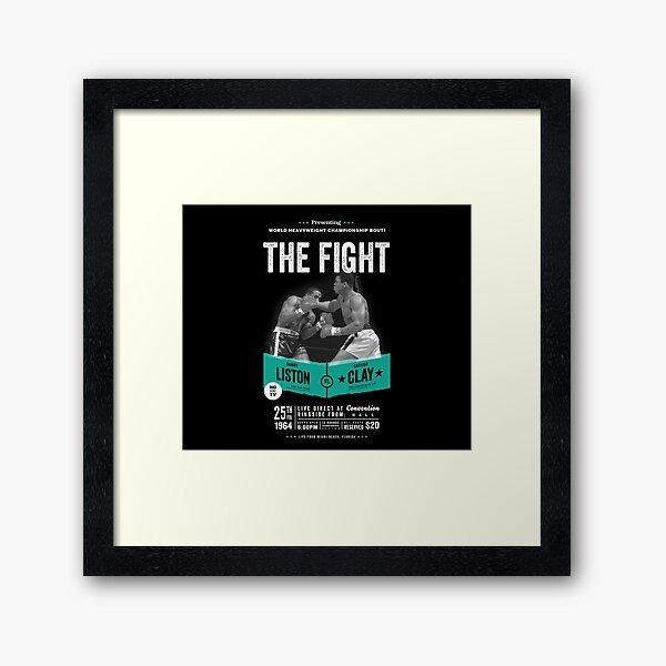 Cassius Clay vs Sonny Liston - Ali Boxing Shirt Framed Art Print