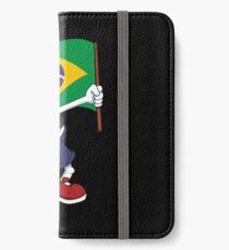 Brazil Dabbing Soccer Ball iPhone Wallet/Case/Skin