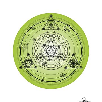 Green geometric mandala art by GeometricEye