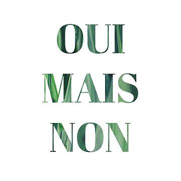 'OUI MAIS NON' print by fayemonterey