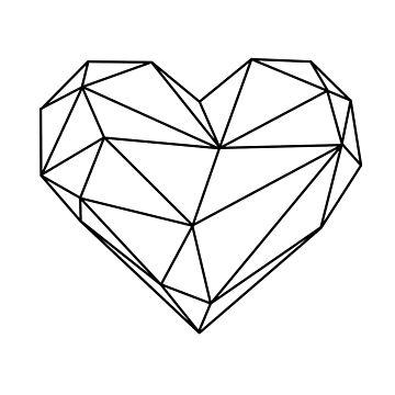 Geometric Heart B&W by RyanToday