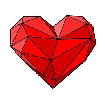 Geometric Heart Red by RyanToday