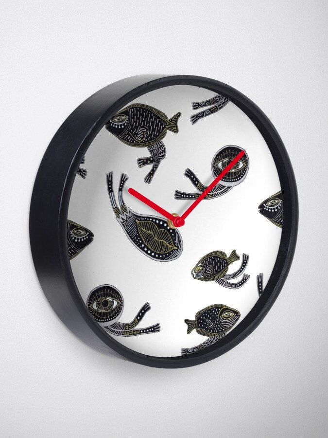 Alternate view of underwater surreal creatures Clock