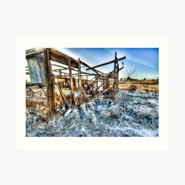 Trailer - not for rent: Salton Sea Beach Art Print