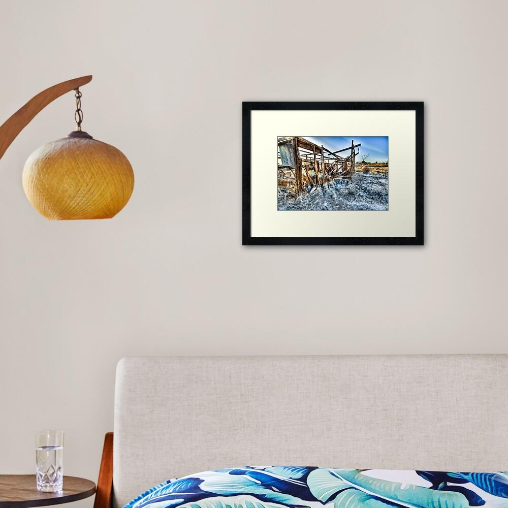 Trailer - not for rent: Salton Sea Beach Framed Art Print