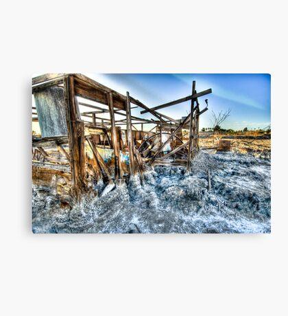 Trailer - not for rent: Salton Sea Beach Canvas Print