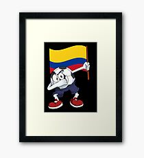 Colombia Dabbing Soccer Ball Framed Print