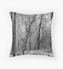 colorless forest Throw Pillow