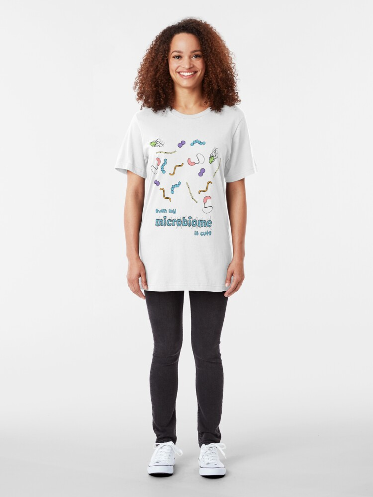 Alternate view of Cute Microbiome Slim Fit T-Shirt