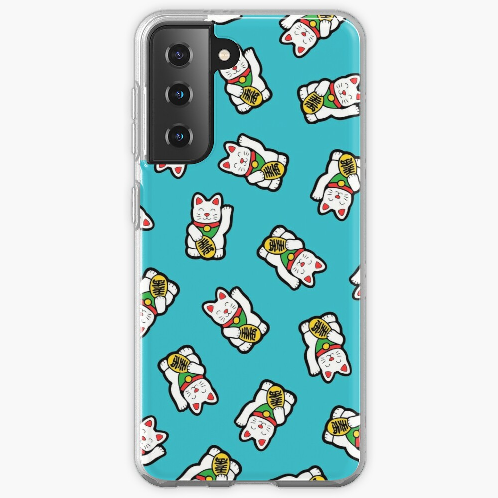 Lucky Cat Pattern Case & Skin for Samsung Galaxy