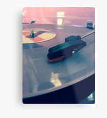 Pink vinyl  Metal Print