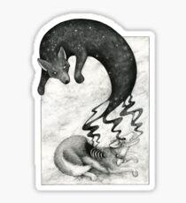 Metamorphosis - Dog Spirit returning to the Cosmos Sticker