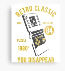 RETRO CLASSIC TETRIS 1980 IF YOU FIT IN YOU DISAPPEAR     T-SHIRT Metal Print