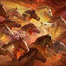 Running Horses by Julie Dillon