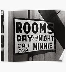 Rooms For Rent, 1939 Poster