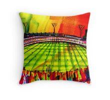 AFL Footy Melbourne MCG  Throw Pillow