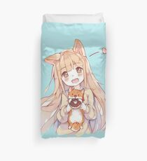 kawaii girl Duvet Cover