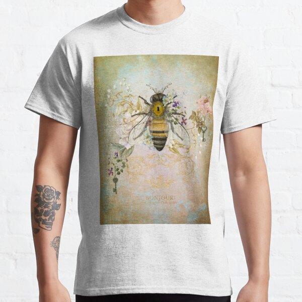 Honey Bee Vintage Portrait Style Classic T-Shirt