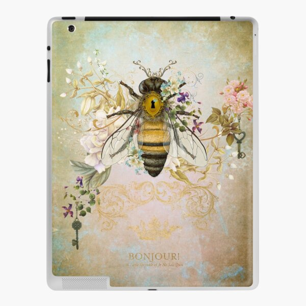 Honey Bee Vintage Portrait Style iPad Skin